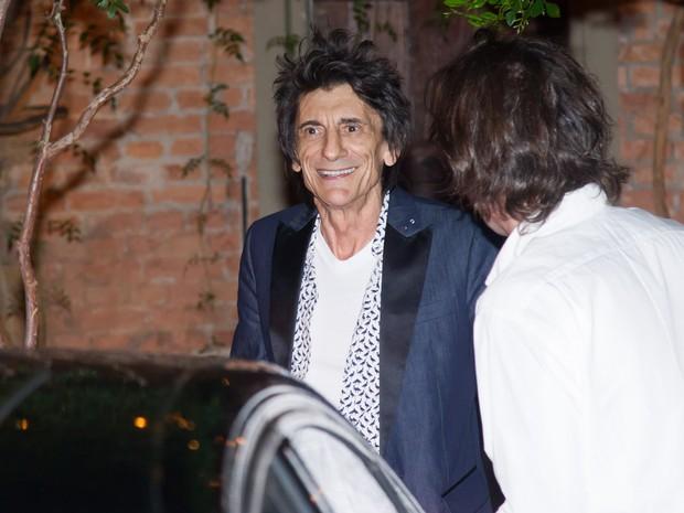 Ron Wood em restaurante em São Paulo (Foto: Manuela Scarpa/ Brazil News)
