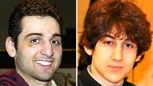 Os irmãos Tamerlan e Dzhokhar Tsarnaev  (Foto: AP)