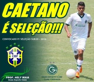 Gustavo Caetano, meia do Goiás, é convocado para a seleção brasileira sub-20 (Foto: Divulgação/Goiás)