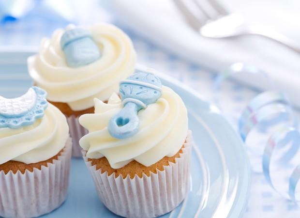 chá de bebê azul cupcake festa (Foto: Thinkstock)