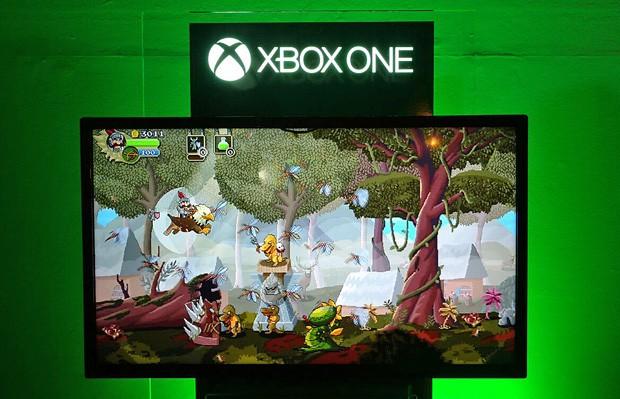 'Gryphon Knight Epic' foi lançado para Xbox One em evento da Microsoft  (Foto: Bruno Araujo/G1)