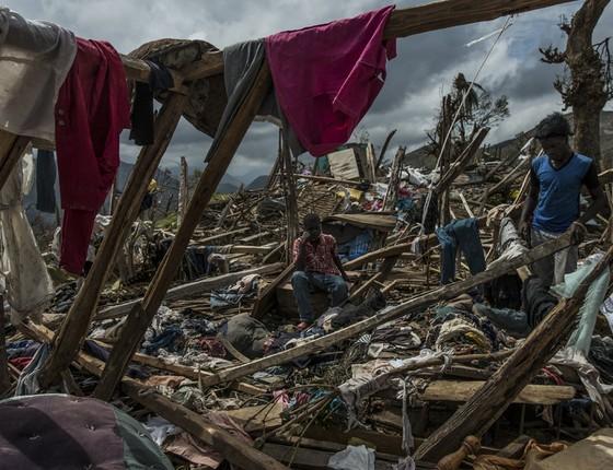Destruição do furacão Matthew, no Haiti. (Foto: Meridith Kohut/The New York Times)