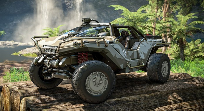 Halo Warthog in rainforest