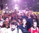 SP: público  se concentra  na Av. Paulista (Lívia Machado/G1)