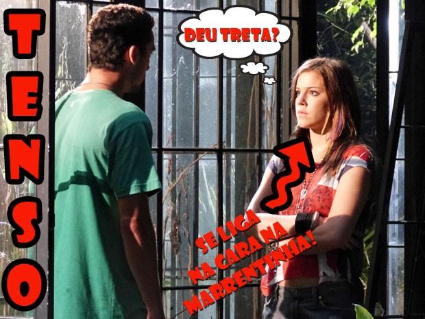 #MEDO! O que será que o Sal tá aprontando, hein? (Foto: Malhação / Tv Globo)