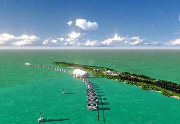 Eco resort de DiCaprio fica em Blackadore Caye, ilha desabitada no litoral de Belize (Foto: Reprodução/Denniston International)