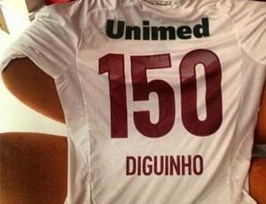 diguinho fluminense camisa 150 jogos (Foto: Reprodução/Instagram)