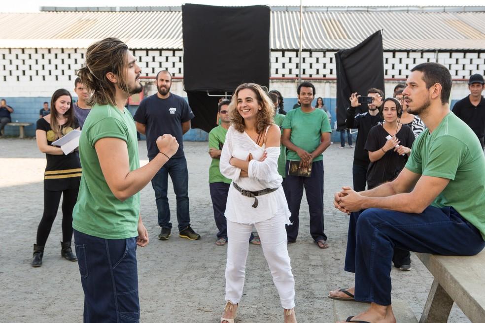 Luan em cena com João Vicente de Castro (Foto: Felipe Monteiro/Gshow)