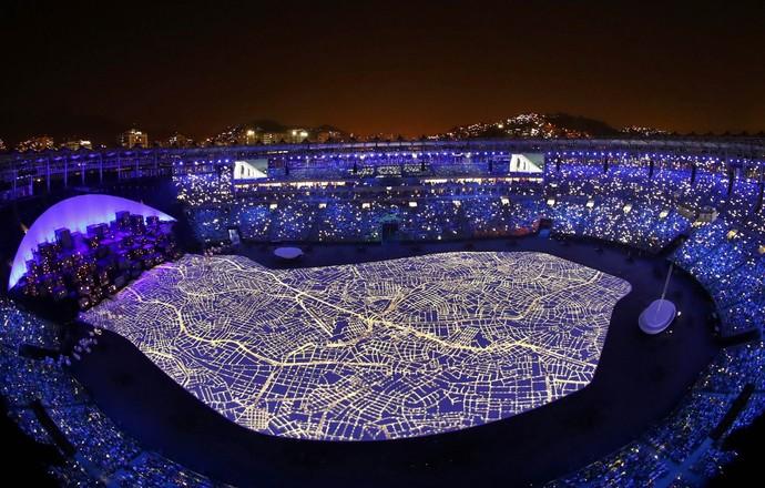 Cerimônia de abertura (Foto: Reuters)