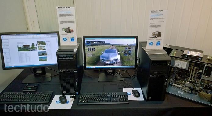 HP lançou nova linha Z de workstations no Brasil (Foto: Fabrício Vitorino/ TechTudo)