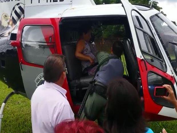 Resgate aconteceu na manhã desta quarta-feira (13) (Foto: Divulgação/Águia da PM)