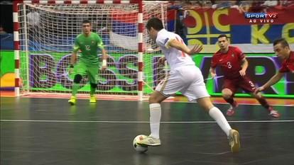 Os gols de Portugal 1 x 3 Sérvia pela Uefa Euro de Futsal