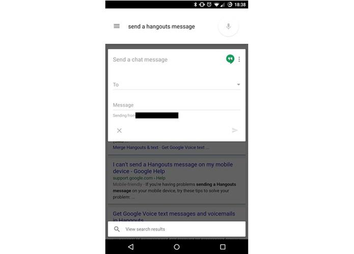 Google Now vai permitir enviar mensagens no Hangouts (Foto: Reprodução/5to9Google)
