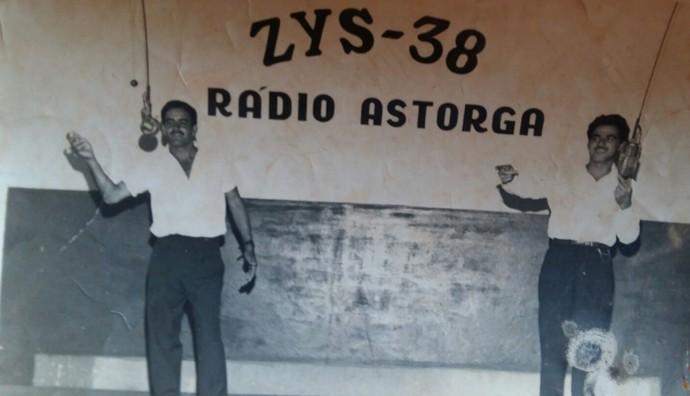 The Voice Kids - Barreto e Marinho na Rádio Astorga (Foto: Arquivo pessoal)
