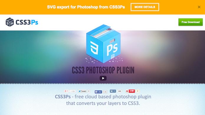 Homepage do site do plugin CSS3Ps (foto: Repodução/ Lu Fávero)