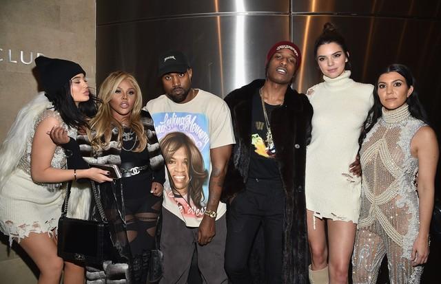 Kylie Jenner, Lil' Kim, Kanye West, A$AP Rocky, Kendall Jenner e Kourtney Kardashian (Foto: Getty Images)