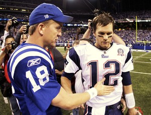 futebol americano Tom Brady Peyton Manning  (Foto: Getty Images)