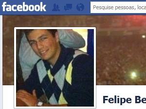 O aluno Felipe Berredo tinha 18 anos e morreu na queda do helicóptero (Foto: Reprodução / Facebook)