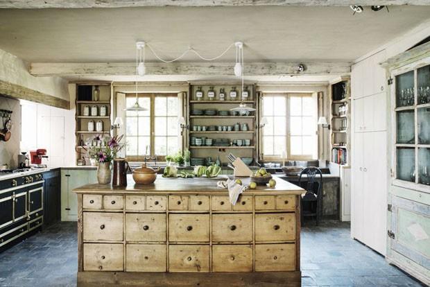 Décor do dia: cozinha rústica com ilha (Foto: Reprodução)