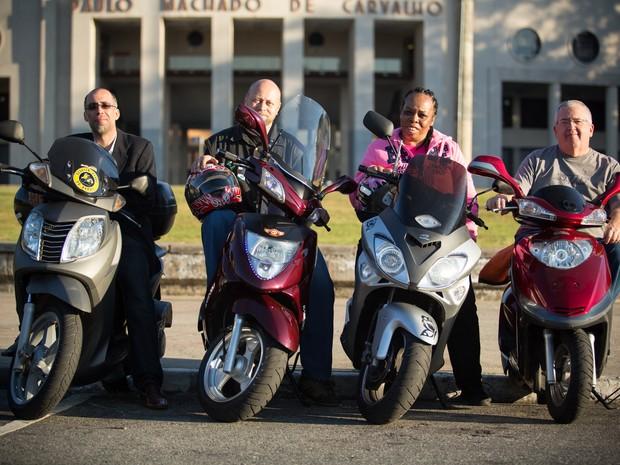 Usuários de scooters escolhem o veículo pela praticidade (Foto: Raul Zito/G1)