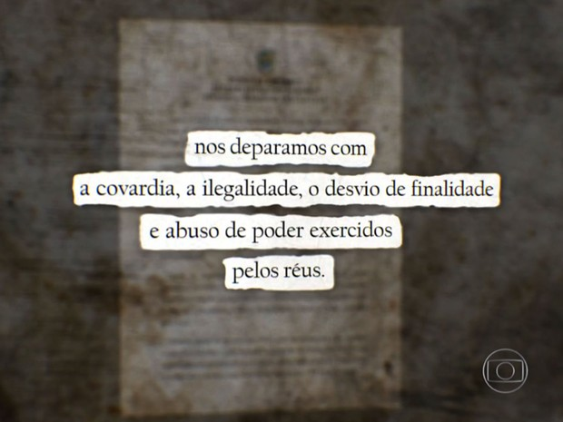 Na sentença, juíza critica os PMs condenados no caso Amarildo (Foto: Reprodução / Globo)