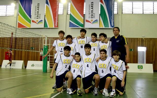 Marcelo Azevedo e Rildo Carvalho Flor, nas Olimpíadas Escolares, em Poços de Caldas (Foto: Satiro Sodre/AGIF/COB)