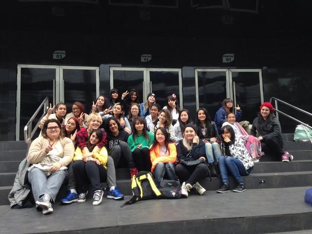 Fãs do grupo de kpop, BTS (Foto: EGO)