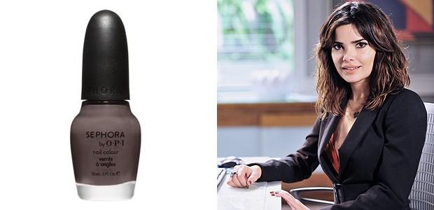 Vanessa Giácomo faz parte do elenco chique dasmaníacas por esmaltes. Ela usa o Metro Chic da Sephora, de R$48 (Foto: TV Globo/Divulgação)