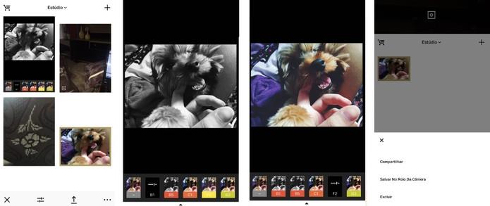 Coloque o filtro que desejar e compartilhe sua foto (Reprodução/Camila Peres)