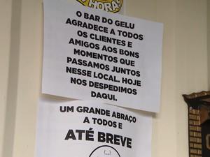 Bar fechado em Divinópolis (Foto: TV Integração/Reprodução)