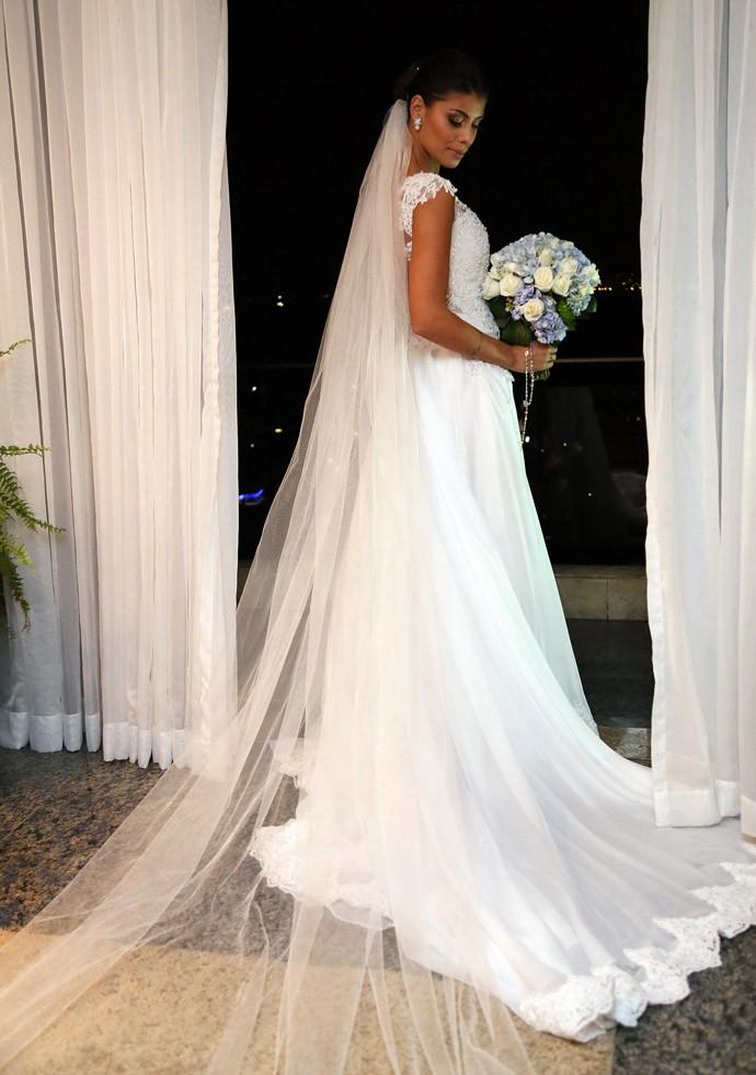 O vestido durou quatro meses para ficar pronto (Foto: Isabella Pinheiro/Gshow)