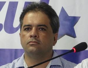 Silvio Camelo e Rafael Tenório, dirigentes do CSA (Foto: Paulo Victor Malta/Globoesporte.com)