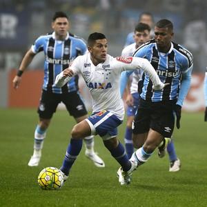 Lucas Romero; Wallace; Grêmio x Cruzeiro (Foto: Lucas Uebel/Light Press)
