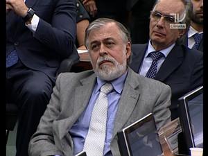 O ex-diretor da Petrobras Paulo Roberto Costa na CPI. (Foto: Reprodução)