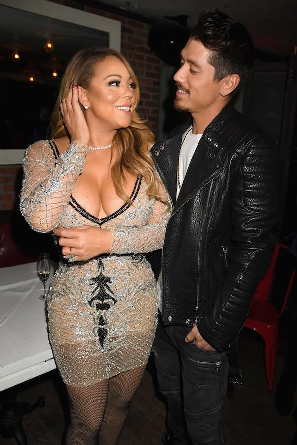 A cantora Mariah Carey com o dançarino Bryan Tanaka (Foto: Getty Images)