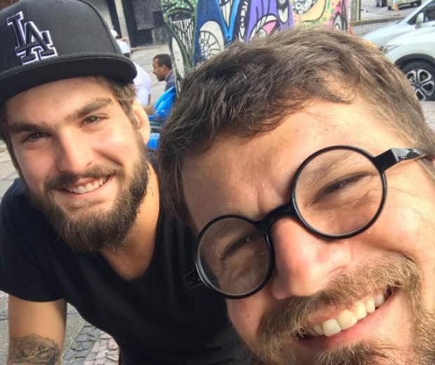 João Lucas e Saulo Fernandes (Foto: Reprodução/Instagram)