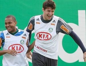 Patrik e Fábio, Palmeiras (Foto: Cesar Greco / Agência Estado)