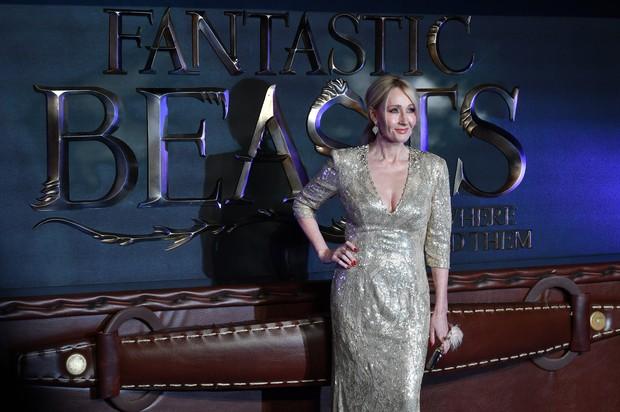 J.K. Rowling em première de Animais fantásticos e onde habitam, na Europa  (Foto: AFP / Agência)