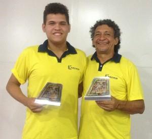 João Trindade conquistou o bronze e Anaice Silva o ouro na Copa das Confederações (Foto: Karol Aood/GE-AP)
