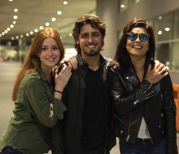 Marina Ruy Barbosa, Daniel Rocha e Juliana Paes vão gravar cenas de 'Totalmente Demais' no Uruguai (Foto: Chico Couto/Gshow)