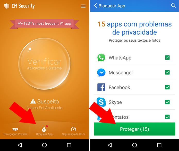 Selecione apps para bloquear (Foto: Reprodução/Paulo Alves)