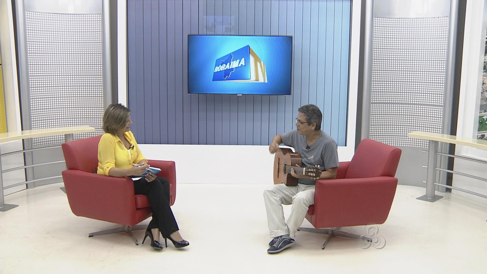 Cantor Zeca Torres se apresenta pela primeira vez em Boa Vista (Foto: Roraima TV)