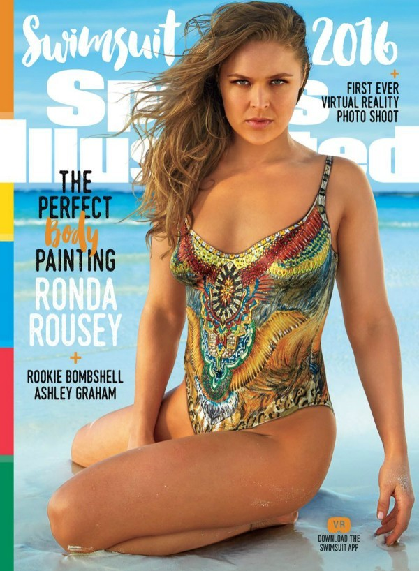 BLOG: Com o corpo pintado, Ronda abrilhanta capa da revista Sports Illustrated