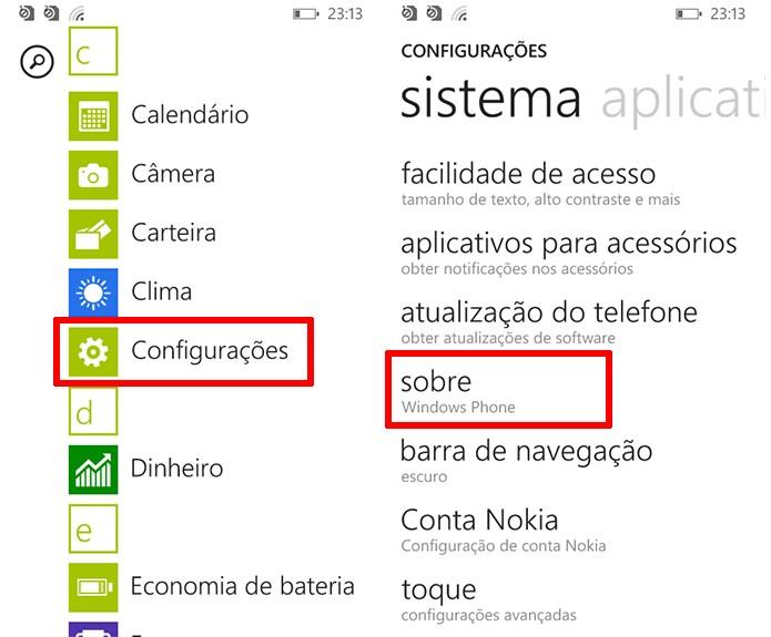 Lumia 630 pode ter configurações de fábricas restauradas na opção Sobre (Foto: Reprodução/Elson de Souza)