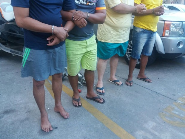 Suspeitos foram presos em Marechal e Arapiraca (Foto: Suely Melo/G1)