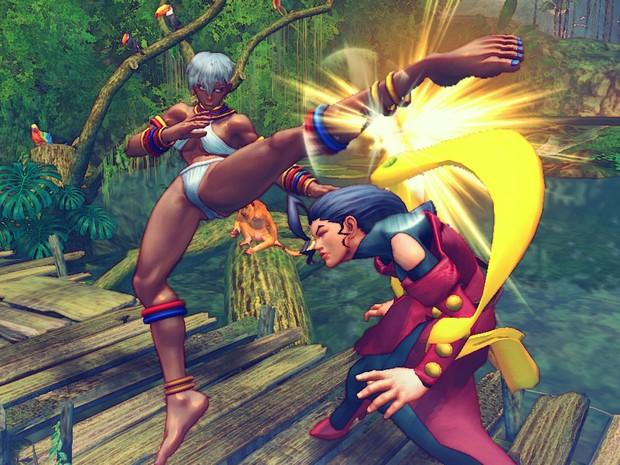 Elena contra Rose em 'Ultra Street Fighter IV' (Foto: Divulgação/Capcom)
