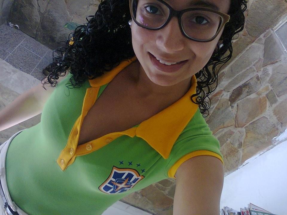 Amanda Lima não esconde sua paixão pela Seleção Brasileira (Foto: Arquivo Pessoal)