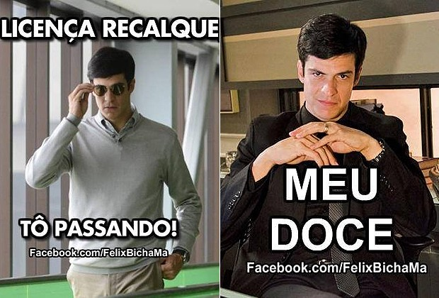 """OS CARTAZES DA FANPAGE """"FÉLIX BICHA MÁ"""" (Foto: Reprodução/Facebook)"""
