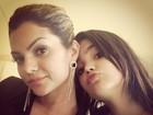 Filha de Kelly Key e Latino faz biquinho para foto