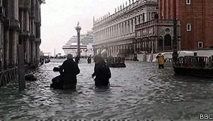 Veneza terá 78 bloqueadores para limitar o fluxo de água para a lagoa da cidade e evitar enchentes. (Foto: Reprodução/BBC Brasil)